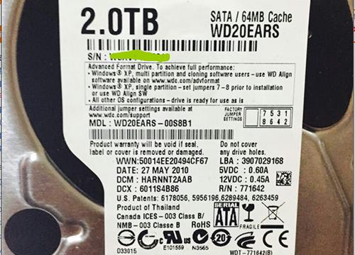 西数WD20EARS监控硬盘恢复数据